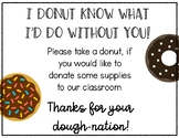 Donut Donation Board