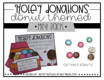 Donut Donation EDITABLE Wish List