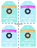 For STUDENTS . . . Donut . . . Donuts Valentine Tag . . .