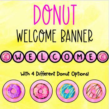 Donut Door Decoration , Welcome Banner