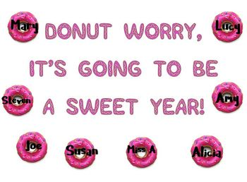 Donut Door Decorations: Donut Worry, It's Going to be a Sweet Year!