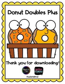 Donut Doubles Plus Practice
