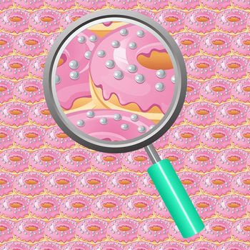 Donut / Doughnut Backgrounds / Digital Papers Clip Art Commercial Use