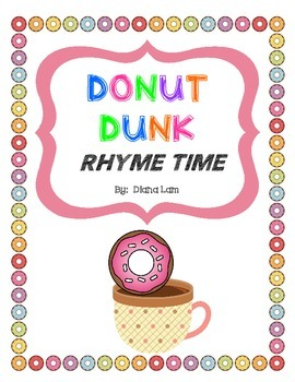 Donut ( Doughnut ) Dunk Rhyming Activity