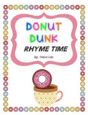Donut ( Doughnut ) Dunk Rhyming Activity
