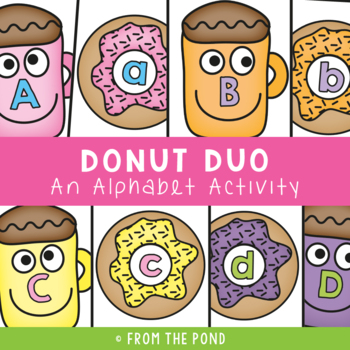 Donut Duo - Literacy Center Activity Game Single Sounds