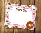 Donut Flat Thank You Note Cards