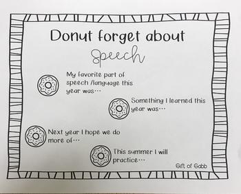 Donut Forget Speech