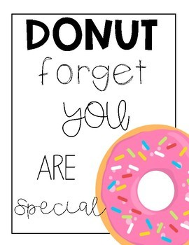 Donut Forget you are Special