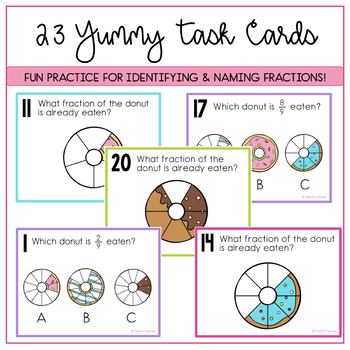 Donut Fraction Task Cards