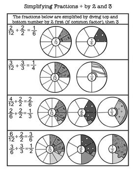 Donut Fractions Flashcards and Worksheets