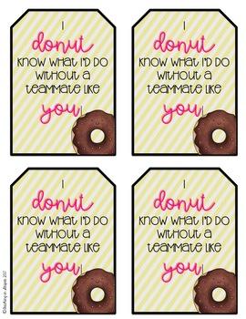 Donut Gift Tag Freebie