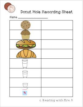 Donut Holes Measurement Activity