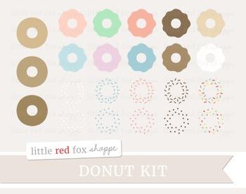Donut Kit Clipart; Dessert, Baking