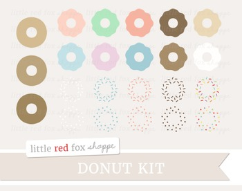 Donut Kit Clipart; Dessert, Baking