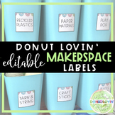 Donut Lovin' Makerspace Labels