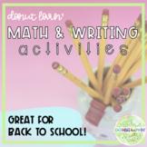 Donut Lovin' Math & Writing Activities