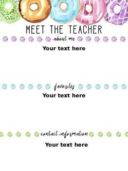 Donut Lovin Meet the Teacher