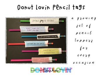 Donut Lovin' Pencil Tags