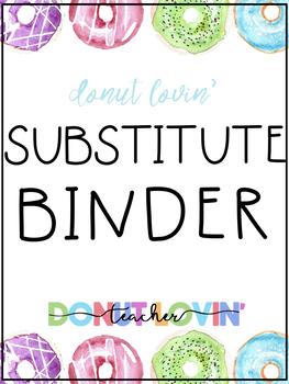 Donut Lovin' Sub Binder