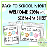 Donut Themed Back To School Night Welcome Sign & Sign In Sheet