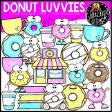 Donut Luvvies Clip Art Set {Educlips Clipart}