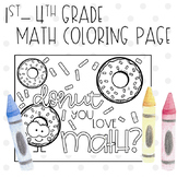 Addition, Multiplication, Order of Operations Coloring Page-Donut you love math?