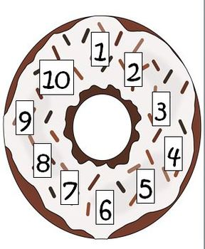 Donut Basic Facts Math Freebie