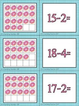 Donut Math Partner Cards!
