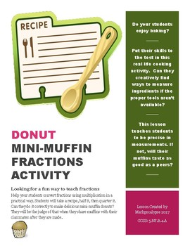Donut Mini-Muffin Fraction Activity