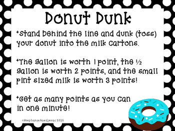 Donut Minute to Win It Games