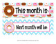 Donut Monthly Calendar Headers