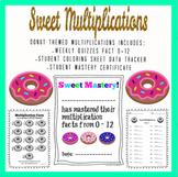 Donut Multiplications Fact Fluency