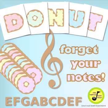 """Donut Music Bulletin Board: """"DONUT"""" forget your notes!"""