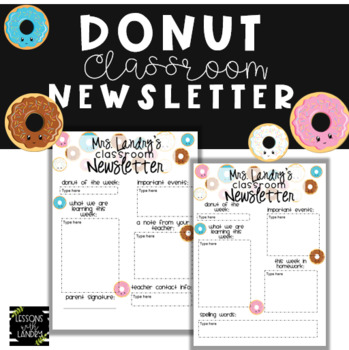 Donut Newsletter {EDITABLE}