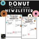 Donut Newsletter {EDITABLE}