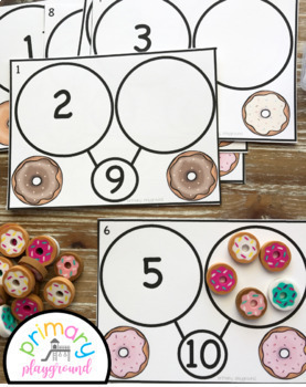 Donut Number Bond Task Cards 1-10 Center