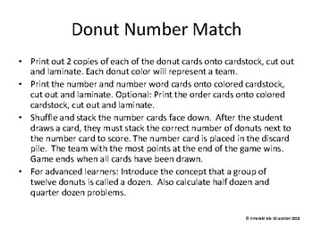 Donut Number Match