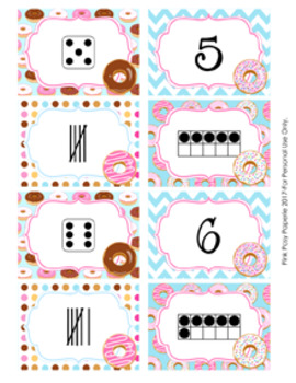 Donut Numbers 1-10 Match Activity