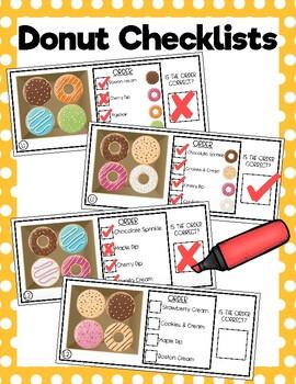 Donut Order Checklists