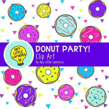 Donut Party! Clip Art