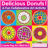 Pop Art Donuts Coloring Pages | Collaborative Art Activity