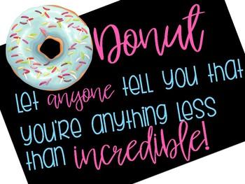 Donut Positivity Poster