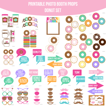 graphic regarding Donut Printable referred to as Donut Printable Image Booth Prop Fixed