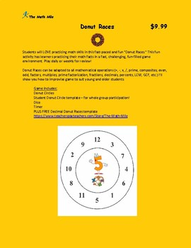 Donut Races Math Game