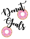 Donut School Year Goals for First Week of School