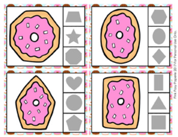 Donut Shapes Clip Cards