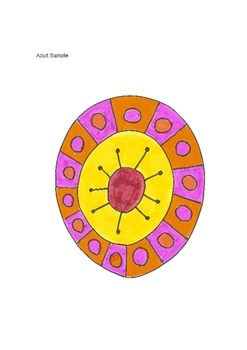 Elementary Visual Art Project - Donut Shine Design