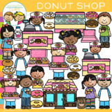 Kids Donut Shop Bakery Clip Art