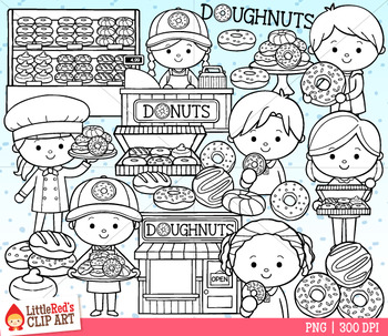 Donut Shop Clip Art